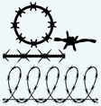 Set sumbol barbed wire vector image vector image