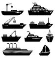 Ship and boat icons vector image vector image