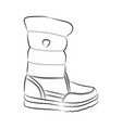 shoe hand-drawn in sketch style vector image vector image