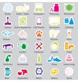 shop department simple stickers set eps10 vector image vector image
