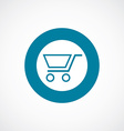 shopping cart icon bold blue circle border vector image vector image