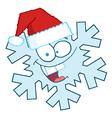 Snowflake Character With Santa Hat vector image vector image