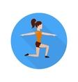 Sport woman vector image