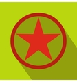 Star icon flat style vector image vector image