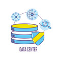 technology banner data center connecting vector image vector image