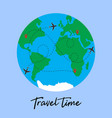travel around world plane vector image vector image