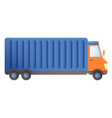 truck parcel delivery icon cartoon style vector image