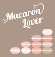 typography macaroon lover vector image