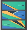 Unusual modern material design backgrounds banners vector image vector image