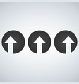 up left and right arrows cut in circles vector image vector image