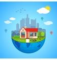 Urban home earth concept vector image vector image