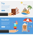 Vacation and Trip Banners vector image vector image