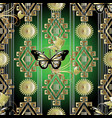 vintage butterflies on the geometric tribal vector image vector image