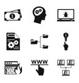 web job icons set simple style vector image vector image