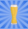 weizen glass of beer isolated on white background vector image vector image