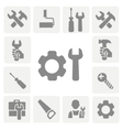 working tools isolated icons set hammer wrench vector image