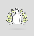 Yoga design logo vector image