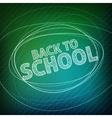 Back to school School icons on a blackboard vector image