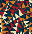 african triangle seamless pattern vector image