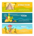 Mexican Banner Set vector image