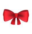 Red bow tie isolated on white background vector image
