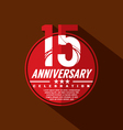15 Years Anniversary Celebration Design vector image