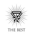 award icon or logo on white vector image vector image