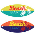 beach bar surfboard vector image vector image