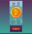 bitcoins icon vector image