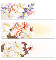 brochures set with flowers vector image vector image