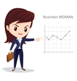 Business woman long hair character vector image vector image