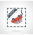 Car evacuation flat color icon vector image vector image