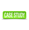 case study green 3d realistic square isolated vector image vector image
