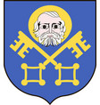 coat of arms of trzebnica in lower silesian vector image vector image