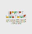color font cyrillic alphabet vector image