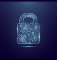 concept cyber security lock made of vector image vector image