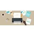 contract failure agreement cancelation broken vector image