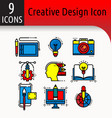 creative design color icon vector image