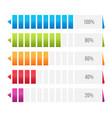 creative of columns bar chart vector image vector image