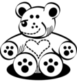 Cuddly Teddy Bear vector image