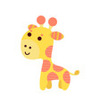 cute cartoon giraffe animal toy colorful vector image