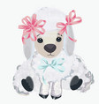 cute lamb for design in watercolor style vector image vector image