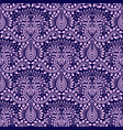 damask seamless pattern repeating background blue vector image