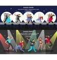 Dance Flat Banner vector image vector image