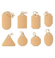 different shapes shopping sale tags isolated on vector image