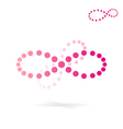Dotted infinity icon vector image vector image