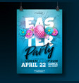 easter party flyer with vector image vector image