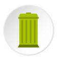eco dustbin icon circle vector image