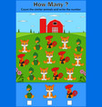 education counting game of animals vector image