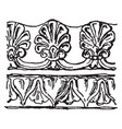 etruscan border have a terra-cotta pattern vector image vector image